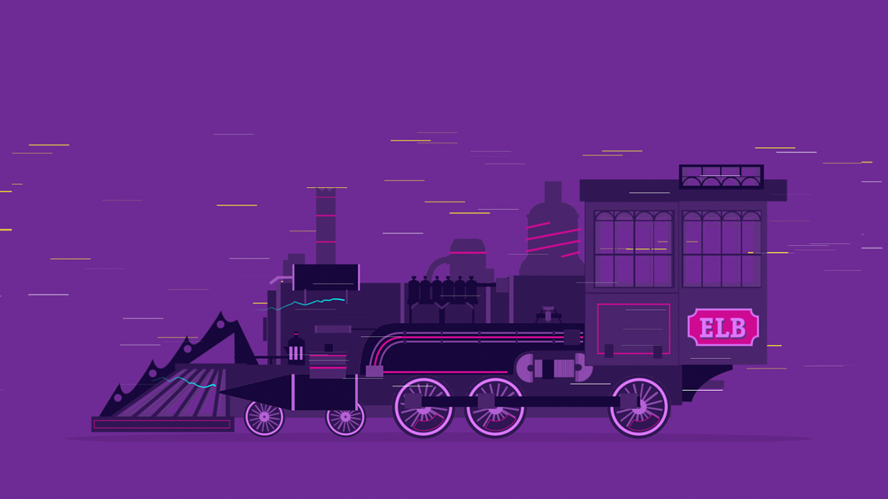 Screenshot of the train for the Barcelona BITS teaser themed as Back to the Future