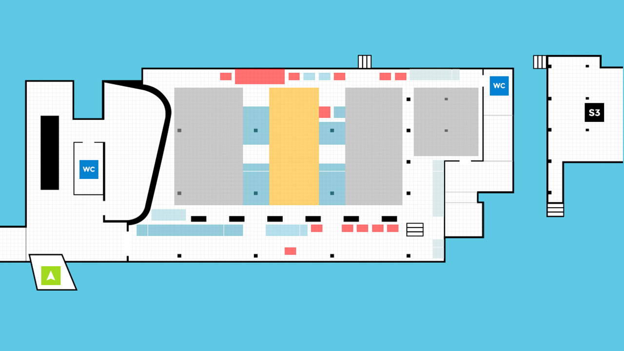 Virtual Venue 2D fallback showing a selected area