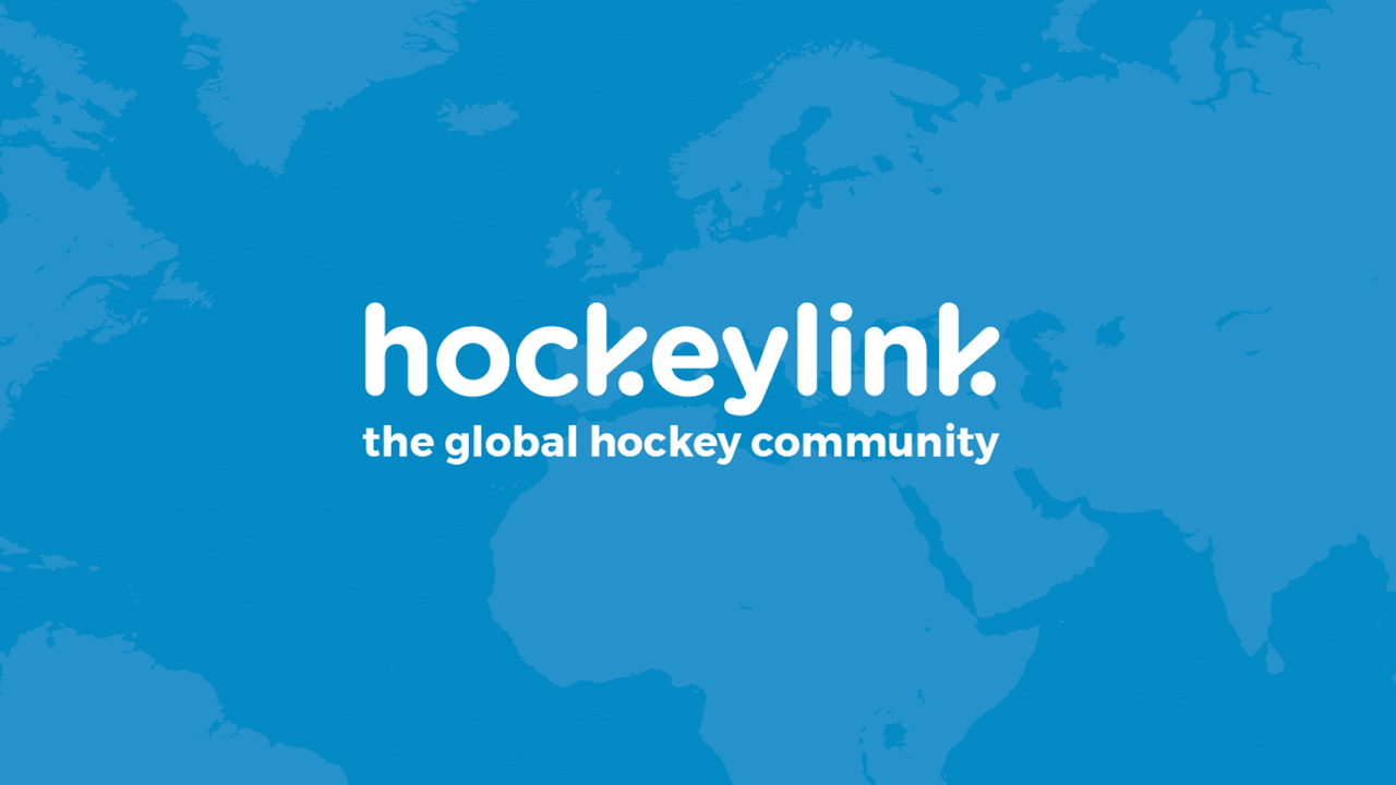 Hockeylink branding logo with the search map behind